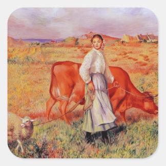 Pierre-Auguste Renoir- Shepherdess Sticker