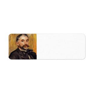 Pierre-Auguste Renoir- Stephane Mallarme Return Address Label