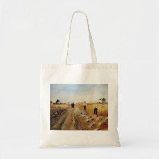 Pierre-Auguste Renoir- The Harvesters Canvas Bags
