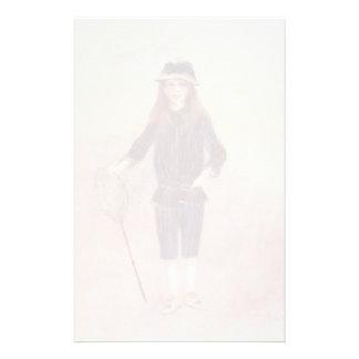 Pierre-Auguste Renoir- The Little Fishergirl Stationery Paper