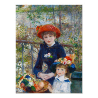 Pierre-Auguste Renoir Two sisters CC0524 Poster