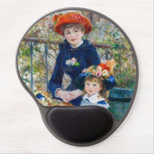 Pierre-Auguste Renoir - Two sisters on the Terrace Gel Mouse Pad