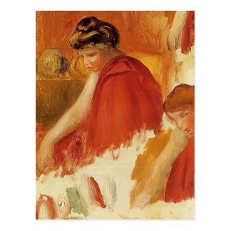Pierre-Auguste Renoir- Two Women in Red Robes Postcard
