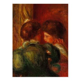 Pierre-Auguste Renoir-Two Women s Heads (The Loge) Postcard