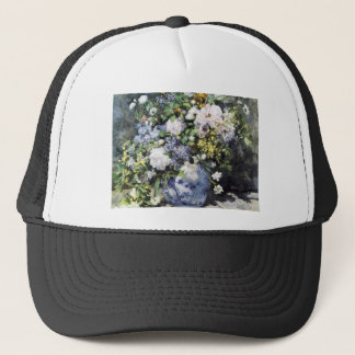 Pierre-Auguste Renoir  Vase of flowers Trucker Hat
