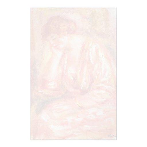 Pierre-Auguste Renoir- Woman Leaning on Her Elbow Custom Stationery