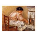 Pierre-Auguste Renoir- Woman Stoking a Stove Postcards