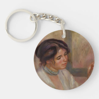 Pierre-Auguste Renoir- Woman with a Necklace Single-Sided Round Acrylic Keychain
