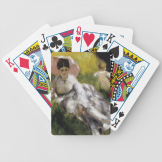 Pierre-Auguste Renoir- Woman with Parasol Bicycle Playing Cards