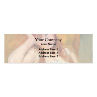 Pierre-Auguste Renoir- Young Blond Woman Business Card