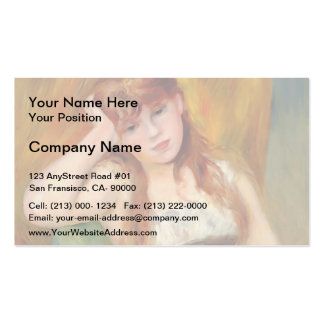 Pierre-Auguste Renoir- Young Blond Woman Business Card Template
