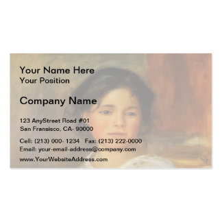 Pierre-Auguste Renoir- Young Woman Seated Business Cards