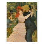 "Pierre-Auguste Renoir's Dance at Bougival (1883) 4.25"" X 5.5"" Invitation Card"