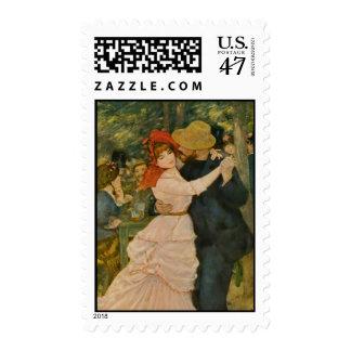 Pierre-Auguste Renoir's Dance at Bougival (1883) Postage