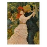 Pierre-Auguste Renoir's Dance at Bougival (1883) Post Card