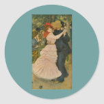 Pierre-Auguste Renoir's Dance at Bougival (1883) Sticker