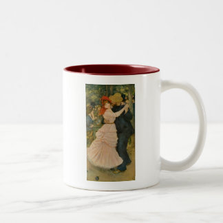 Pierre-Auguste Renoir's Dance at Bougival (1883) Two-Tone Coffee Mug