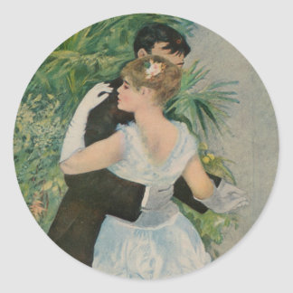 Pierre-Auguste Renoir's Dance in the Town (1883) Classic Round Sticker