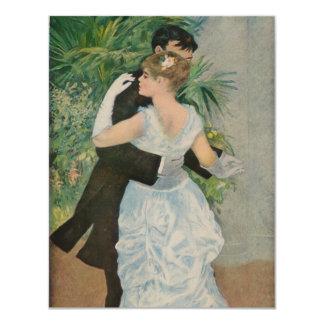 Pierre-Auguste Renoir's Dance in the Town (1883) 4.25x5.5 Paper Invitation Card