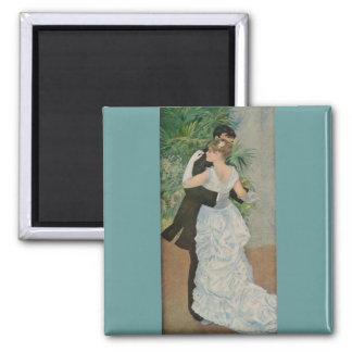 Pierre-Auguste Renoir's Dance in the Town (1883) 2 Inch Square Magnet