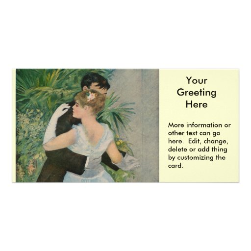 Pierre-Auguste Renoir's Dance in the Town (1883) Photo Card Template