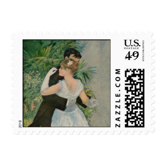 Pierre-Auguste Renoir's Dance in the Town (1883) Postage Stamp