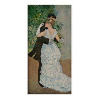 Pierre-Auguste Renoir's Dance in the Town (1883) Poster