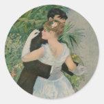 Pierre-Auguste Renoir's Dance in the Town (1883) Round Stickers