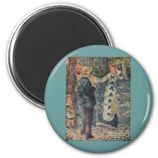 Pierre-Auguste Renoir's The Swing (1876) 2 Inch Round Magnet