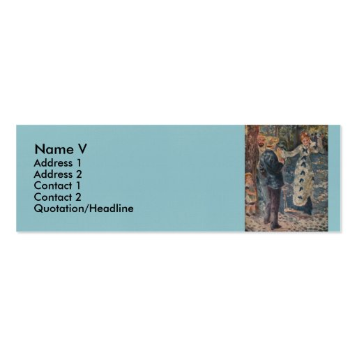 Pierre-Auguste Renoir's The Swing (1876) Double-Sided Mini Business Cards (Pack Of 20)
