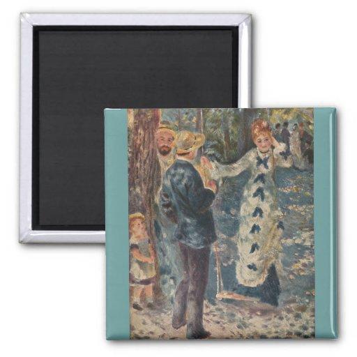 Pierre-Auguste Renoir's The Swing (1876) Fridge Magnets