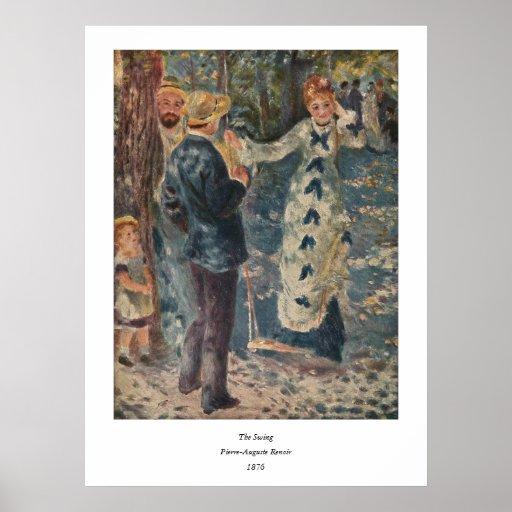 Pierre-Auguste Renoir's The Swing (1876) Print