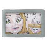 Pierre Bossier Mall Caricature Couple Dec 2012 Rectangular Belt Buckles