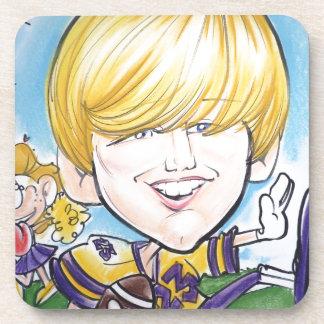 Pierre Bossier Mall Caricature- November 18,2012 Drink Coaster