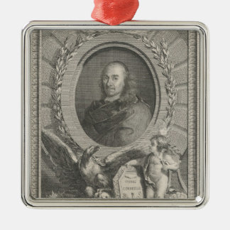 Pierre Corneille  French playwright Metal Ornament