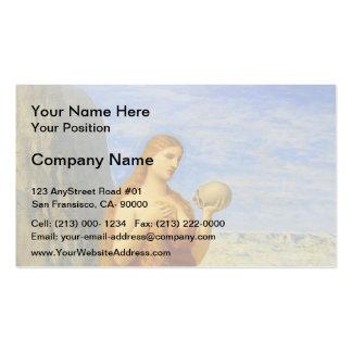 Pierre de Chavannes-Mary Magdalene in Desert Business Card Templates