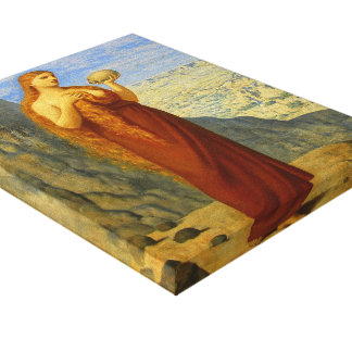 Pierre de Chavannes-Mary Magdalene in Desert Stretched Canvas Print