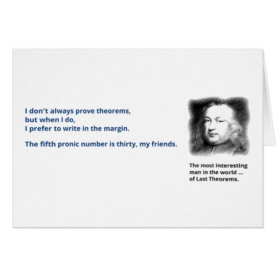 Pierre de Fermat's last theorem Card