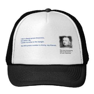 Pierre de Fermat's last theorem Trucker Hat