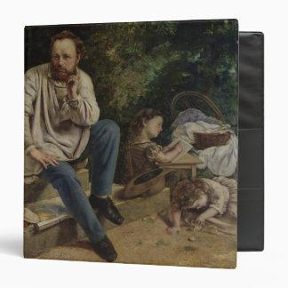 Pierre Joseph Proudhon  and his children Binder