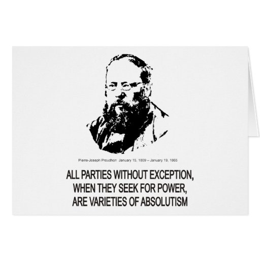 Pierre-Joseph Proudhon Greeting Cards