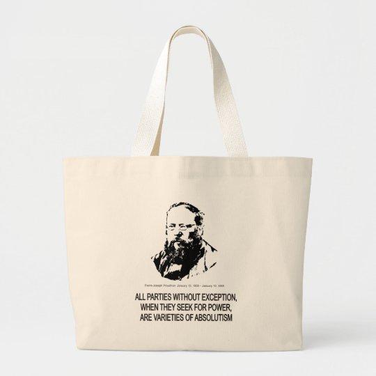 Pierre-Joseph Proudhon Large Tote Bag