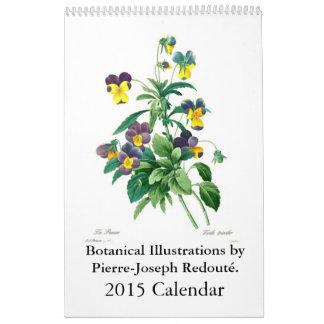 Pierre-Joseph Redouté 2015 Calendar