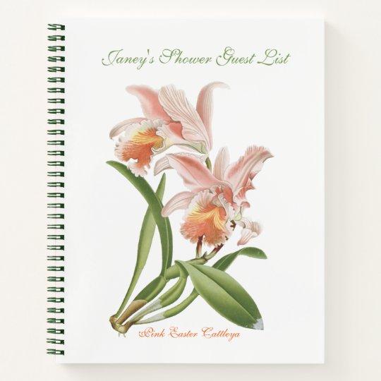 Pierre Joseph Redouté Pink Easter Cattleya Notebook