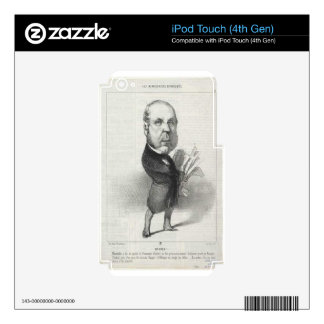 Pierre-Jules Baroche by Honore Daumier Decal For iPod Touch 4G