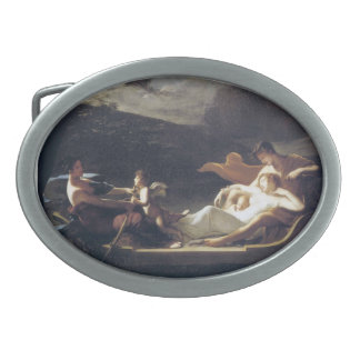 Pierre-Paul Prud'hon- The dream of happiness Oval Belt Buckles