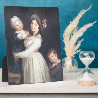Pierre Prud'hon- Family portrait of Madame Anthony Photo Plaque