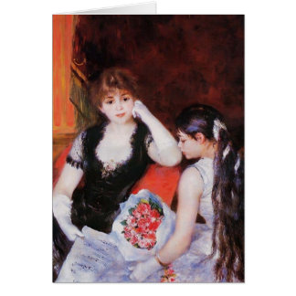 Pierre Renoir- At the Concert (Box at the Opera) Card