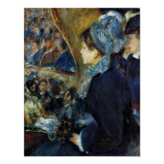 Pierre Renoir - At the theatre Poster