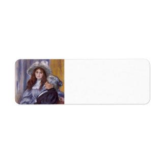 Pierre Renoir-Berthe Morisot &Her Daughter Julie Custom Return Address Labels